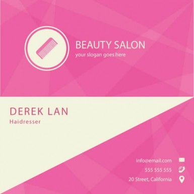 Saloon Business Cards