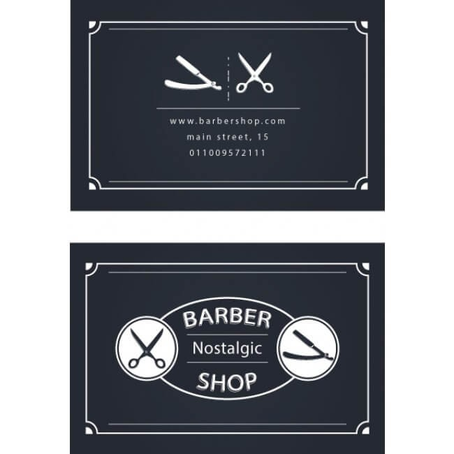 Saloon Business Cards Males