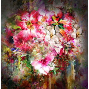 Canvas Painting Flowers Print